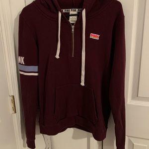 PINK 1/4 zip hoodie